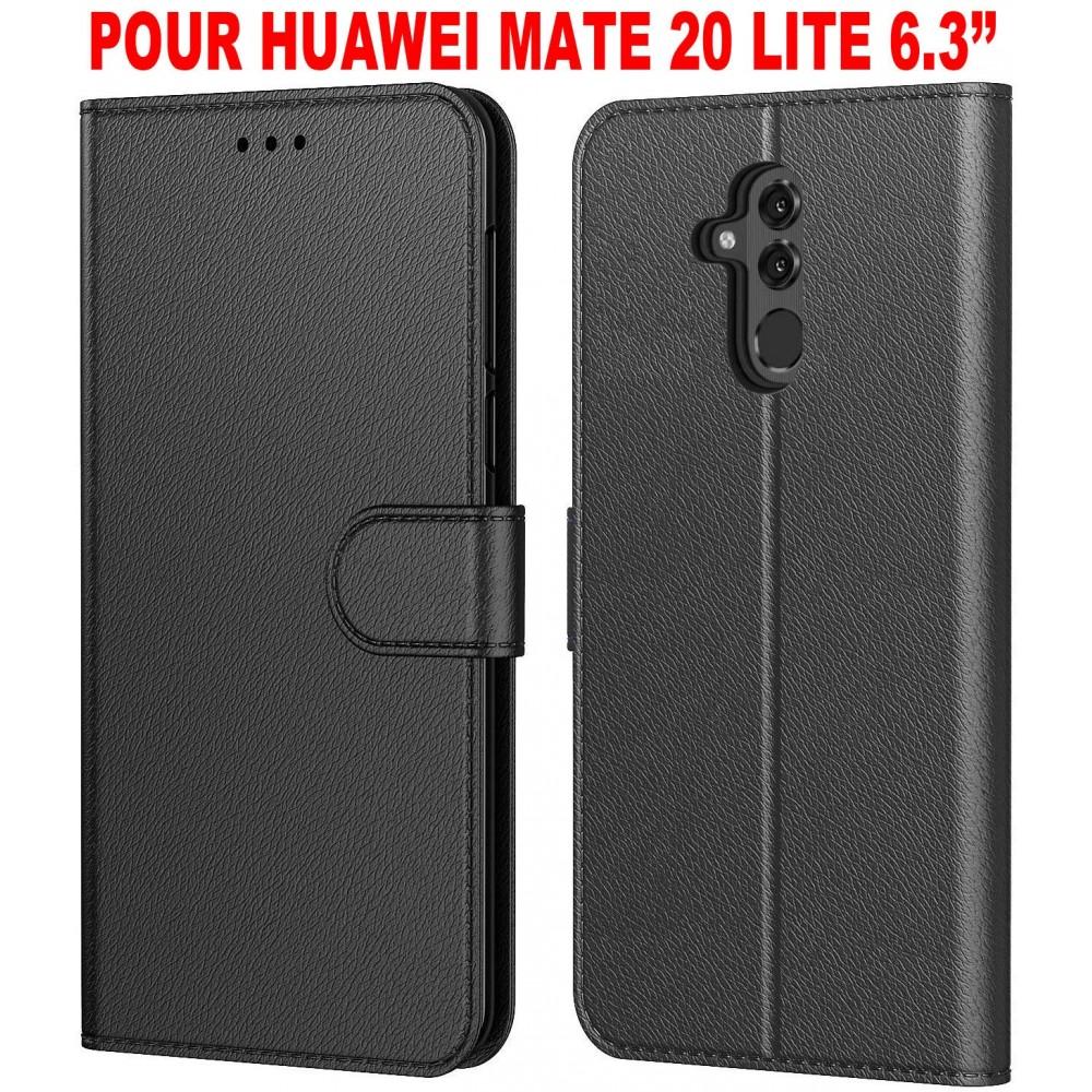 Coque pour Huawei Mate 20 Lite, Protection Etui Housse en Cuir Portefeuille Livre,[Fonction Support],[Languette Magnétique]
